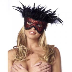 RIMBA bondage elegantná maska s perím
