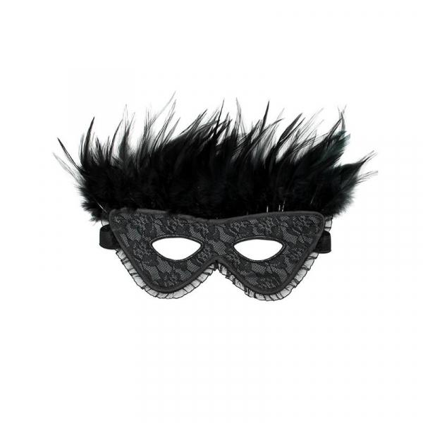 RIMBA bondage luxusná maska s perím