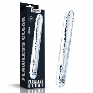 LOVETOY Double Dildo Flawless Clear 30cm